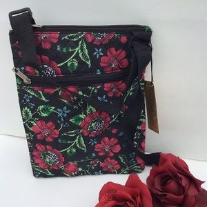 Gold Coast Quilted  Flower Cross Body Bag